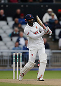 7th September 2017, Emirates Old Trafford, Manchester, England; Specsavers County Championship, Division One; Lancashire versus Essex; Essex captain Varun Chopra at the crease during the afternoon session