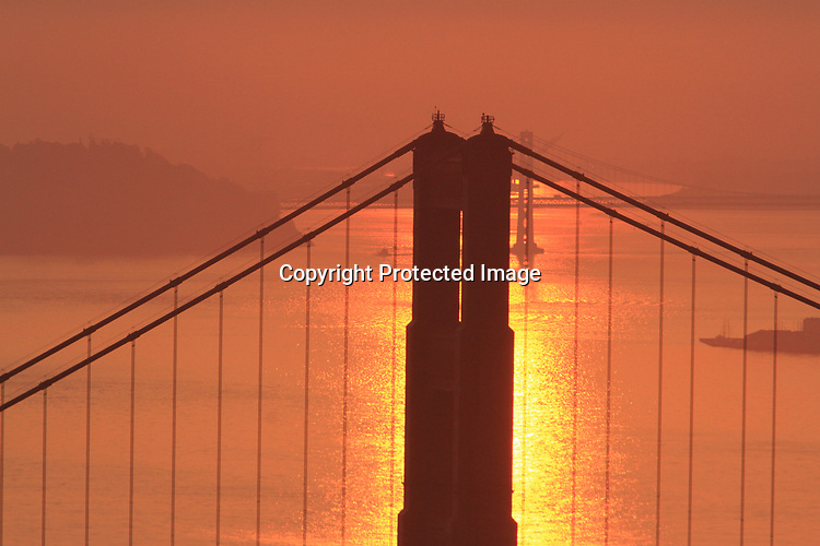 The wildfires from Napa Valley turns the skies a fiery red during sunrises and set in the Bay Area.