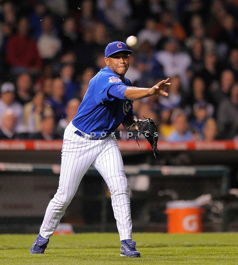 CARLOS MARMOL, of the Chicago Cubs  , in action  during the Cubs game against the Florida Marlins on April 30, 2009 in Chicago, Illinois  Marlins beat  the Cubs 8-2.