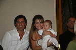 Vincent Irizarry & Chrishell Stause & baby Trevor (Aiden and Connor Sharpe play Trevor) as they attend All My Children Fan Luncheon on September 13, 2009 at the New York Helmsley Hotel, NYC, NY. (Photo by Sue Coflin/Max Photos)
