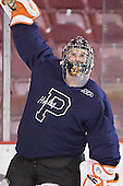 B.J. Sklapsky - The Princeton University Tigers took part in a morning skate on Saturday, December 31, 2005 at Magness Arena in Denver, Colorado before taking part in the Denver Cup Final against Boston College.