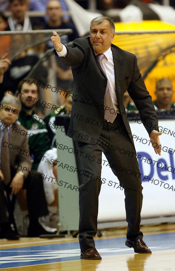 Kosarka, Euroleague season 2007-08.Partizan Vs. Panathinaikos (Athens).head coach Zeljko Obradovic.Beograd, 03.19.2008..foto: Srdjan Stevanovic