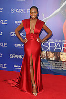 HOLLYWOOD, CA - AUGUST 16: Tika Sumpter at the 'Sparkle' film premiere at Grauman's Chinese Theatre on August 16, 2012 in Hollywood, California. © mpi26/MediaPunch Inc. /NortePhoto.com<br />