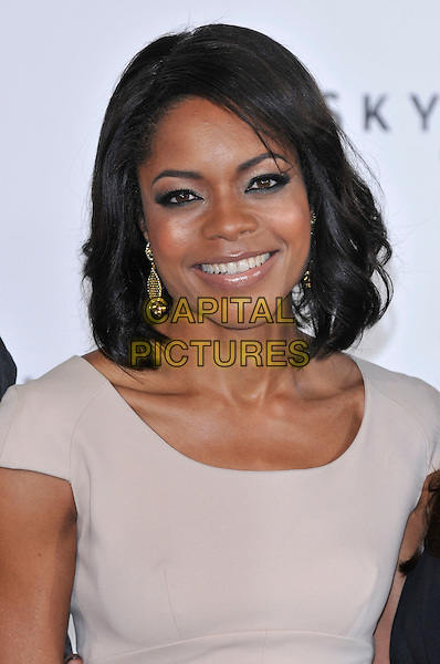 Naomie Harris (wearing Preen).'Bond 23' photocall to mark the start of production of new James Bond 007 film 'SKYFALL' at Massimo Restaurant,  London, England. 3rd November 2011.headshot portrait beige smokey eyes beauty smiling.CAP/PL.©Phil Loftus/Capital Pictures.