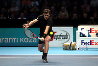 Jimmy Murray (GBR) and Bruno Sobres (BRA)(2) action against  Bob Bryan (USA)and Mike Bryan in their Fleming/McEnroe Group  match during Day Three  of the Barclays ATP World Tour Finals 2015 played at The O2 Arena, London on November 15th  2016<br /> <br /> <br /> <br /> <br /> (BLR)(8)   in their Edberg/ Jarryd /Group  match during Day Three  of the Barclays ATP World Tour Finals 2015 played at The O2 Arena, London on November 15th  2016