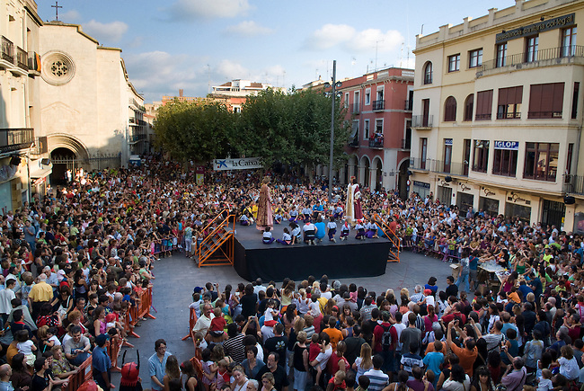 Vilafranca del Pnedes, Barcelona, Catalonia, childrens day, gegantes