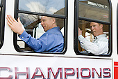 Bert Lenz (BC - Trainer), Greg Brown (BC - Assistant Coach) - The 2012 National Champion Boston College Eagles were honored with a parade and rally on campus on Tuesday, April 10, 2012, in Chestnut Hill, Massachusetts.