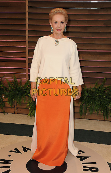 WEST HOLLYWOOD, CA - MARCH 2: Carolina Herrera arrives at the 2014 Vanity Fair Oscar Party in West Hollywood, California on March 2, 2014.<br /> CAP/MPI<br /> &copy;MPI213/MediaPunch/Capital Pictures