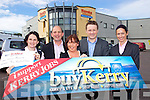 This weeks buyKerry winner is Regina Hennessy, Bruach na hAbhann, Tralee pictured receiving her winnings on Tuesday, l-r: Suzanne Ennis (Tralee CU), Brendan Kennelly (Kerry's Eye), winner Regina Hennessy, Joe Costello (Noyeks) and Katrina Rice  (Tralee CU).
