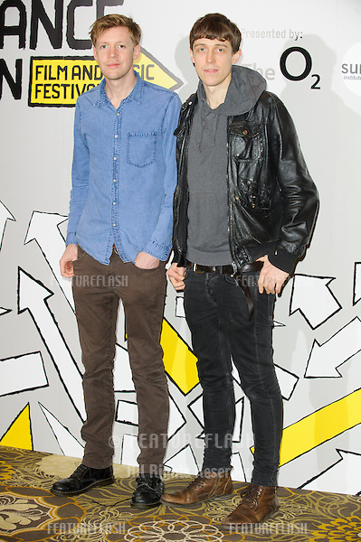 James Spinney and Peter Middleton (&quot;Notes on Blindness&quot;)<br /> pose for the launch of Sundance London 2014 at the Langham Hotel , London. 24/04/2014 Picture by: Steve Vas / Featureflash