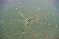 Aerial of farmland, Tanzania, East Africa