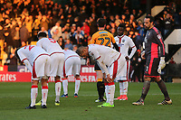 Disappointment for Sutton players at the final whistle during Cambridge United vs Sutton United , Emirates FA Cup Football at the Cambs Glass Stadium on 5th November 2017