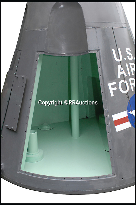 BNPS.co.uk (01202 558833)<br /> Pic:RRAuctions/BNPS<br /> <br /> ***Please Use Full Byline***<br /> <br /> The capsule from the Gemini space missions that is up for sale. It is thought to fetch &pound;35,000.<br /> <br /> Space fans have got the chance to own a piece of history - after one of the capsules from the ground-breaking Gemini space missions of the 1960s emerged for sale.<br /> <br /> The 9ft capsule was used by NASA to test the design and handling of the spacecraft during the highly dangerous missions, which resulted in the first ever space walks.<br /> <br /> The Gemini missions paved the way for putting man on the moon with the Apollo space programme by testing longer space flights and perfecting methods of re-entry and landing.<br /> <br /> Experts at Boston saleroom RR Auction where it will go under the hammer are expecting it to fetch upwards of $50,000 - around &pound;35,000