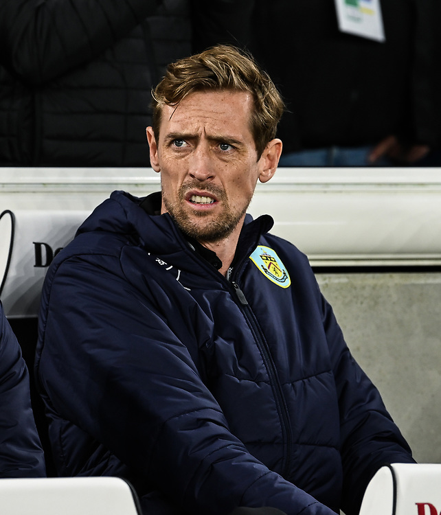 Burnley Peter Crouch<br /> <br /> Photographer David Horton/CameraSport<br /> <br /> The Premier League - Brighton and Hove Albion v Burnley - Saturday 9th February 2019 - The Amex Stadium - Brighton<br /> <br /> World Copyright &copy; 2019 CameraSport. All rights reserved. 43 Linden Ave. Countesthorpe. Leicester. England. LE8 5PG - Tel: +44 (0) 116 277 4147 - admin@camerasport.com - www.camerasport.com