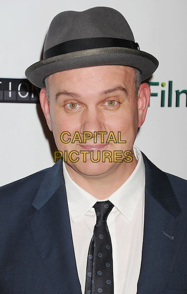 "Mike O'Malley.Arriving at the Los Angeles premiere of ""Certainty"" at the Laemmmle Music Hall in Beverly Hills, California, USA..November 27, 2012.headshot portrait black tie white shirt blue suit jacket grey gray hat .CAP/ROT/TM.©Tony Michaels/Roth Stock/Capital Pictures"