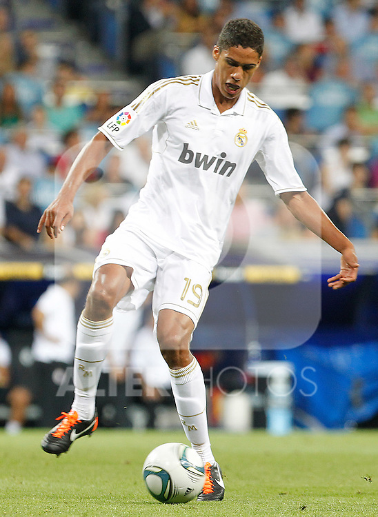 Real Madrid's Raphael Varane during Santiago Bernabeu Trophy.August 24,2011. (ALTERPHOTOS/Acero)