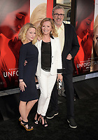 HOLLYWOOD, CA - APRIL 18:  (L-R) Actresses Jordan Ladd, Cheryl Ladd and producer Brian Russell arrive at the Premiere Of Warner Bros. Pictures' 'Unforgettable' at TCL Chinese Theatre on April 18, 2017 in Hollywood, California.<br /> CAP/ROT/TM<br /> &copy;TM/ROT/Capital Pictures