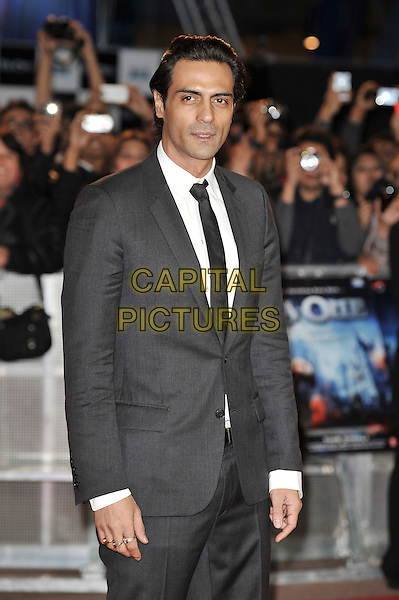 Arjun Rampal.'RA. One' UK premiere at Cineworld, O2 Arena, Greenwich, London, England..25th October 2011.half length black suit jacket tie white shirt .CAP/MAR.© Martin Harris/Capital Pictures.
