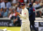 7th September 2017, Lords Cricket Ground, London, England; International Test Match Series, Third Test, Day 1; England versus West Indies; England Captain Joe Root leads the team out