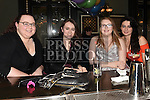 Aisling Flynn, Caroline McComish, Helen Reilly and Megan Price enjoying the new years eve celebrations in The Grey Goose. Photo:Colin Bell/pressphotos.ie