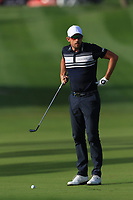 Alexander Bjork (SWE) on the 1st fairway during Round 4 of the Omega Dubai Desert Classic, Emirates Golf Club, Dubai,  United Arab Emirates. 27/01/2019<br /> Picture: Golffile | Thos Caffrey<br /> <br /> <br /> All photo usage must carry mandatory copyright credit (&copy; Golffile | Thos Caffrey)