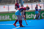 Krefeld, Germany, May 18: During the Final4 semi-final fieldhockey match between UHC Hamburg and Club an der Alster on May 18, 2019 at Gerd-Wellen Hockeyanlage in Krefeld, Germany. (worldsportpics Copyright Dirk Markgraf) *** Belen Iglesias Marcos #18 of UHC Hamburg
