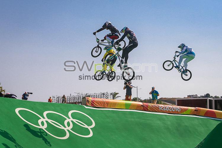 Picture by Alex Whitehead/SWpix.com - 18/08/2016 - 2016 Rio Olympic Games - BMX - Olympic BMX Centre, Rio de Janeiro, Brazil - Men's Quarter Finals.