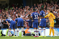 Chelsea players look shell-shocked and confused in the second half during Chelsea vs Sheffield United, Premier League Football at Stamford Bridge on 31st August 2019