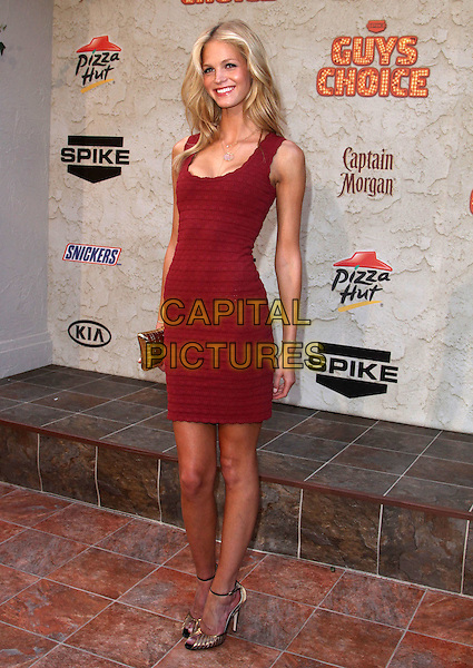 "Erin Heatherton.Spike TV's 5th Annual ""Guys Choice"" Awards held at Sony Pictures Studios, Culver City, California, USA,.4th June 2011..full length red sleeveless dress .CAP/ADM/KB.©Kevan Brooks/AdMedia/Capital Pictures."