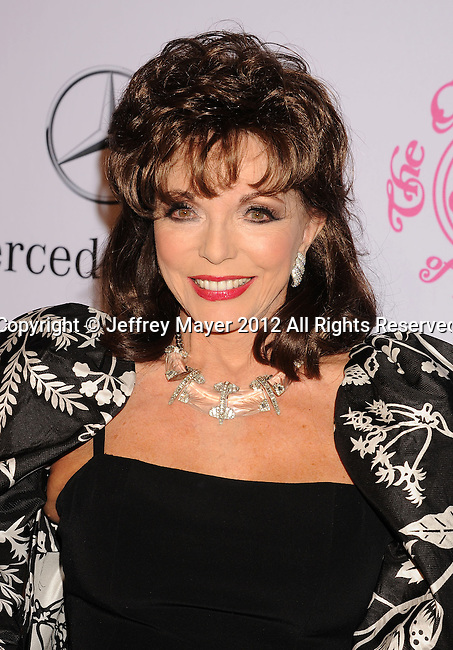 BEVERLY HILLS, CA - OCTOBER 20: Joan Collins arrives at the 26th Anniversary Carousel Of Hope Ball presented by Mercedes-Benz at The Beverly Hilton Hotel on October 20, 2012 in Beverly Hills, California.