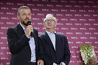 Franck Riboud Chairman and Jacques Bungert Vice-Chairman of the Tournament, at the opening ceremony of The Evian Championship 2017, the final Major of the ladies season, held at Hotel Royal, Evian-les-Bains, France. 12th September 2017.<br /> Picture: Eoin Clarke | Golffile<br /> <br /> <br /> All photos usage must carry mandatory copyright credit (&copy; Golffile | Eoin Clarke)