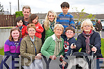 Pictured at the rail line walk from St. Brendans Church, Tralee on Sunday from left: Shauna Rusk, Sean ONeill, Faye ONeill, Colm ONeill, Finn ONeill, Bernie Conway, Suzanne Sheehy and Eoin Buckley, Joan Morris..