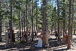 Matt and Kiera's wedding day at Lily Lake in Rocky Mountain National Park, Colorado, USA
