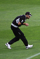 NZ captain Dan Vettori takes a catch during 2nd Twenty20 cricket match match between New Zealand Black Caps and West Indies at Westpac Stadium, Wellington, New Zealand on Friday, 27 February 2009. Photo: Dave Lintott / lintottphoto.co.nz