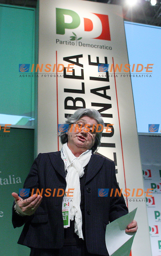 Rosy Bindi..PD- Assemblea Nazionale del Partito Democratico...Roma, 4 Febraio 2011..Serena Cremaschi Insidefoto..........