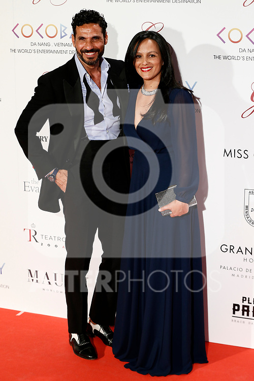 Oscar Higares and his wife Sandra Alvarez attends the photocall of the second Global Gift gala at the Royal Theater in Madrid, Spain. April 04, 2017. (ALTERPHOTOS / Rodrigo Jimenez)