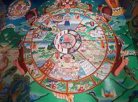 Artwork inside the Hemis Monastery in Ladakh.