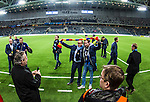 Stockholm 2013-10-27 Fotboll Allsvenskan Djurg&aring;rdens IF - Gefle IF :  <br /> Djurg&aring;rden huvudtr&auml;nare tr&auml;nare Per-Mathias H&ouml;gmo blir avtackad och hyllad efter sista matchen som tr&auml;nare f&ouml;r Djurg&aring;rdens IF i Tele2 Arena<br /> (Foto: Kenta J&ouml;nsson) Nyckelord:  tr&auml;nare manager coach