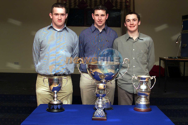 Team members Seamus Curley, Colin Crosby and Peter Curran at the Duleek GFC dinner dance..Picture:Newsfile