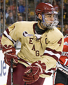 Tommy Cross (BC - 4) - The Boston College Eagles defeated the Northeastern University Huskies 7-1 in the opening round of the 2012 Beanpot on Monday, February 6, 2012, at TD Garden in Boston, Massachusetts.