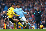 Ashley Westwood of Aston Villa and David Silva of Manchester City - Barclay's Premier League - Manchester City vs Aston Villa - Etihad Stadium - Manchester - 05/03/2016 Pic Philip Oldham/SportImage