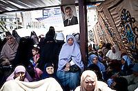 Une manifestante pro Morsi à Nasr City,Le Caire, 5 Juillet 2013. .