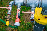 Polish water pipe with three outlets.  Zawady  Central Poland