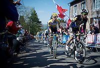 up the infamous Mur de Huy (1300m/9.8%)<br /> <br /> 79th Flèche Wallonne 2015