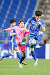 Midfielder Doi Shoma (L) fights for the ball with Ulsan Hyundai Defender Kim Changsoo (R) during the AFC Champions League 2017 Group E match between Ulsan Hyundai FC (KOR) vs Kashima Antlers (JPN) at the Ulsan Munsu Football Stadium on 26 April 2017, in Ulsan, South Korea. Photo by Yu Chun Christopher Wong / Power Sport Images