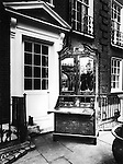 Writing desk in street 1940s