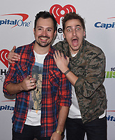 INGLEWOOD, CA - NOVEMBER 30: Dustin Belt (L) and Kendall Schmidt of Heffron Drive attends 102.7 KIIS FM's Jingle Ball 2018 Presented by Capital One at The Forum on November 30, 2018 in Inglewood, California. <br /> CAP/MPIIS<br /> &copy;MPIIS/Capital Pictures