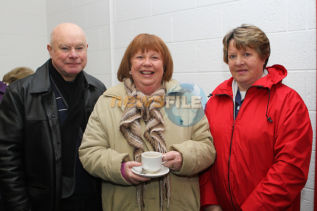 Raymond and Pauline Greene with Frances Farrelly at the Official Opening of the New Lourdes Stadium....Photo NEWSFILE/Jenny Matthews..(Photo credit should read Jenny Matthews/NEWSFILE)