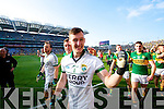 Brendan Kealy and Brian Kelly. Kerry players celebrate their victory over Donegal in the All Ireland Senior Football Final in Croke Park Dublin on Sunday 21st September 2014.