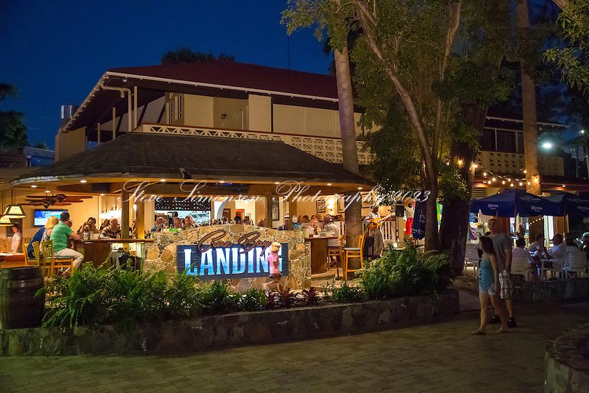 The Landing<br /> restaurant in Cruz Bay<br /> St. John<br /> US Virgin Islands